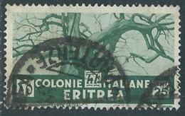1933 ERITREA USATO SOGGETTI AFRICANI 25 CENT - UR31-6 - Eritrea