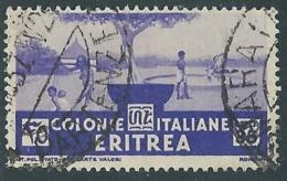 1933 ERITREA USATO SOGGETTI AFRICANI 35 CENT - UR31-6 - Eritrea