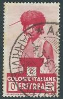 1933 ERITREA USATO SOGGETTI AFRICANI 5 LIRE - UR31-3 - Eritrea
