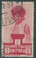 1933 ERITREA USATO SOGGETTI AFRICANI 5 LIRE - UR31-6 - Eritrea