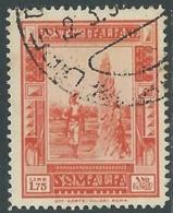 1935-38 SOMALIA USATO PITTORICA 1,75 LIRE - UR30-8 - Somalia