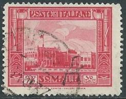 1935-38 SOMALIA USATO PITTORICA 75 CENT - UR30-8 - Somalia