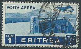1936 ERITREA POSTA AEREA USATO SOGGETTI AFRICANI 1 LIRA - UR31 - Eritrea