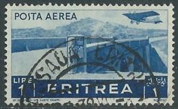 1936 ERITREA POSTA AEREA USATO SOGGETTI AFRICANI 1 LIRA - UR31-2 - Eritrea