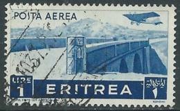 1936 ERITREA POSTA AEREA USATO SOGGETTI AFRICANI 1 LIRA - UR31-4 - Eritrea