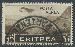 1936 ERITREA POSTA AEREA USATO SOGGETTI AFRICANI 50 CENT - UR31-2 - Eritrea
