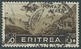 1936 ERITREA POSTA AEREA USATO SOGGETTI AFRICANI 50 CENT - UR31-6 - Eritrea