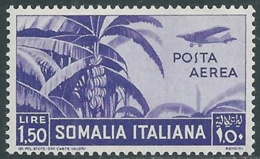 1936 SOMALIA POSTA AEREA SOGGETTI AFRICANI 1,50 LIRE MNH ** - UR35 - Somalia