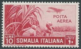 1936 SOMALIA POSTA AEREA SOGGETTI AFRICANI 10 LIRE MNH ** - UR35 - Somalia