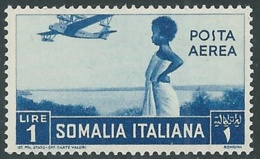 1936 SOMALIA POSTA AEREA SOGGETTI AFRICANI 1 LIRA MNH ** - UR35 - Somalia