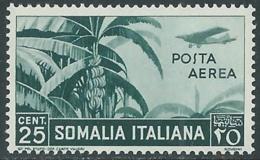 1936 SOMALIA POSTA AEREA SOGGETTI AFRICANI 25 CENT MNH ** - UR35 - Somalia