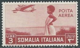 1936 SOMALIA POSTA AEREA SOGGETTI AFRICANI 3 LIRE MNH ** - UR35 - Somalia