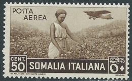 1936 SOMALIA POSTA AEREA SOGGETTI AFRICANI 50 CENT MNH ** - UR35 - Somalia