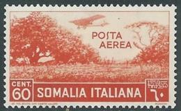 1936 SOMALIA POSTA AEREA SOGGETTI AFRICANI 60 CENT MNH ** - UR35 - Somalia