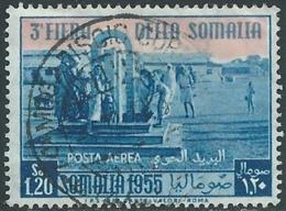 1955 SOMALIA AFIS POSTA AEREA USATO FIERA 1,20 S - UR31-6 - Somalia (AFIS)