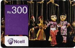 Nepal - Ncell - Puppets, Prepaid 300Rs, Used - Nepal