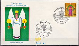 Germany Stamp On FDC From 1971 - Christmas