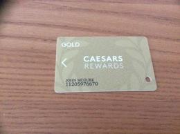 "Carte De Casino Magnétique * ""CAESARS REWARDS - GOLD"" LAS VEGAS - USA - Casino Cards"