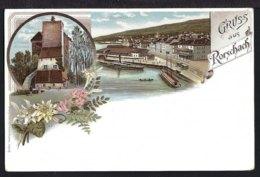 Gruss Aus Rorschach - 2-Bild Litho - St. Annaschloss Und Hafen - SG St. Gallen