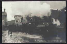 Rorschach - Hochwasser - Dampflock - Belebt - 1910 - SG St. Gallen
