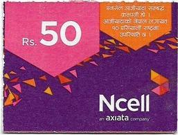 Nepal - Ncell - Purple Abstract, Mini Prepaid 50Rs, Exp. 20.08.2022, Used - Nepal