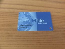 Carte De Casino Magnétique «M Life - SAPPHIRE» LAS VEGAS - USA - Casino Cards