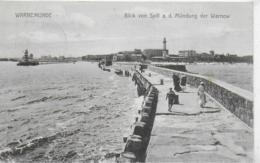 AK 0302  Warnemünde - Blick Von Spill A. D. Mündung Der Warnow Um 1909 - Rostock
