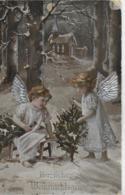 AK 0303  Herzlichen Weihnachtsgruss - Silber-Prägekarte Um 1915 - Weihnachten
