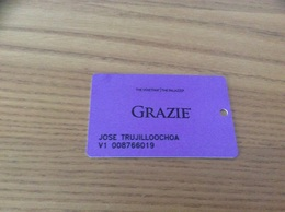 Carte De Casino Magnétique «THE VENETIAN, THE PALAZZO - GRAZIE» LAS VEGAS - USA - Cartes De Casino