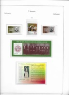 1998 MNH Lituania Year Collection Postfris** - Lituania