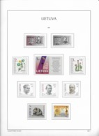 2001 MNH Lituania Year Collection Postfris** - Lituania