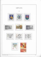 2002 MNH Lituania Year Collection Postfris** - Lituania