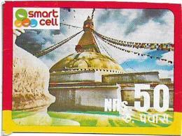 Nepal - Smart Cell - Temple, Mini Prepaid 50Rs, (No PIN & Serials), Dummy?? - Nepal