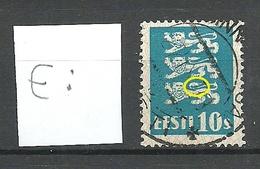 Estland Estonia 1928 Michel 79 ERROR Abart = Damaged Tail O - Estland