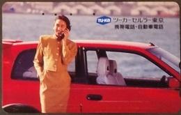 Telefonkarte Japan - Werbung - Frau , Woman - Auto - 110-011 - Japan