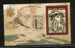 Leonardo Da Vinci, 500 Ans ,  Un Bloc-feuillet Neuf ** D'Uruguay , Année 2019 - Arts