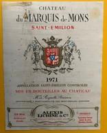 11458 - Château Du Marquis De Mons 1971 Saint-Emilion - Bordeaux