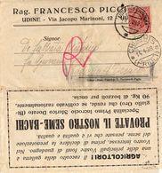 Piego Commerciale Con Raro Annullo Chiavris - Friuli  ( 221) - 1900-44 Vittorio Emanuele III