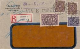 Deutsches Reich Firmenlochung / Perfin R Brief 1923 GL (Nur Vorseite) - Deutschland