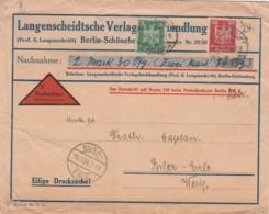 Deutsches Reich Firmenlochung / Perfin R Brief 1923 LV - Briefe U. Dokumente