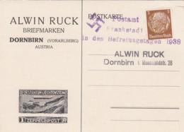 Deutsches Reich Postkarte 1938 Befreiungstagen Frankstadt - Briefe U. Dokumente