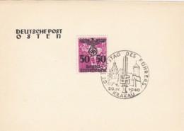 Deutsches Reich Postkarte 1940 Geburtstag Des Fuhrers - Covers & Documents
