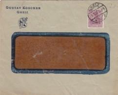 Deutsches Reich Brief Firmenlochung / Perfin 1922 K - Deutschland