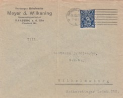 Deutsches Reich Brief Firmenlochung / Perfin 1923 M&W - Deutschland