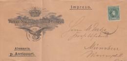 Spain Cover Brief Firmenlochung / Perfin 1901 MRBC - 1889-1931 Königreich: Alphonse XIII.