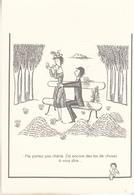 """Les Amoureux De Peynet  """"  Ne Partez Pas Chérie ,j'ai Encore Des Tas De Chose à Vous Dire.."""" - Peynet"""