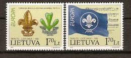 """LITUANIA/ LITHUANIA / LITAUEN   -EUROPA  2007-"""" A CENTENARY SCOUT -EUROPA-CEPT""""- SERIE De 2 V. - Europa-CEPT"""