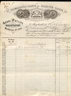 Sigaren - Sigaretten Fabriek Maastricht - Gebr. Philips - Nota - 1888 - Nederland