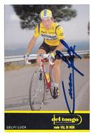 CARTE CYCLISME LUCA GELFI SIGNEE TEAM DEL TONGO 1989 - Cyclisme