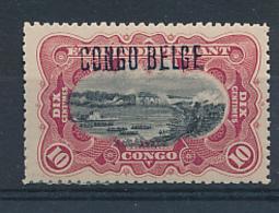 BELGIAN CONGO 1909 ISSUE COB 31L4 LH - Belgisch-Kongo